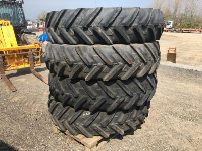 4 x Michelin 380/80 R38 Row Crop Wheels