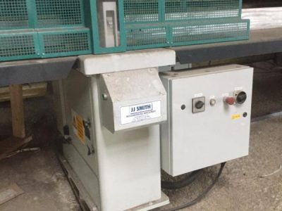 2000 Stromab TR500 Pneumatic Upstroke Crosscut with Infeed & Outfeed Tables